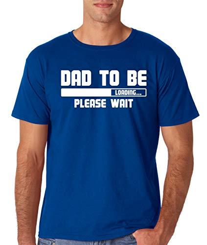 Camiseta divertida con texto en inglés 'Dad to Be, Loading. Please Wait para nuevos padres'