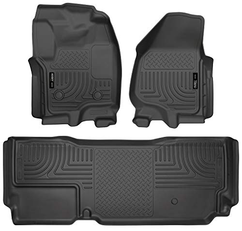 Husky Liners - 99721 Fits 2012-16 Ford F-250/F-350 SuperCab Weatherbeater Front & 2nd Seat Floor Mats (Footwell Coverage) Black