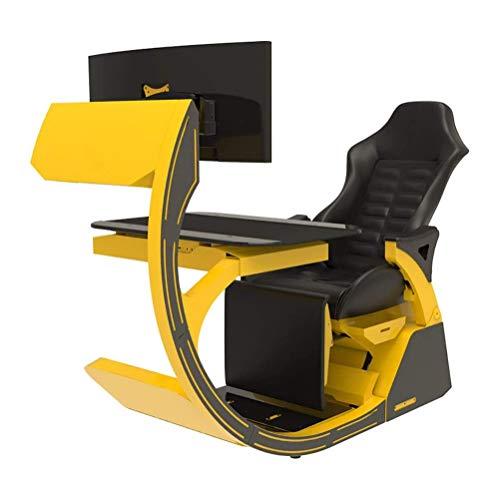 JJSFJH Video Game Stühle Gaming Chair ergonomischer Computer Cockpit Happy-Chair-Esports-Stuhl mit bequemem Hals und Lendenwirbelsäule Tiresome
