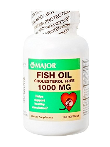 3 Pack Major Omega3 Fish Oil Cholesterol Free 1000mg 100 Ct Pack of 3