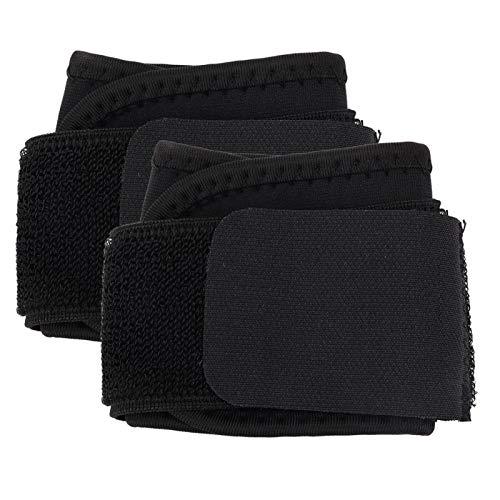 Soporte de muñequera ajustable de 2 piezas para levantamiento de pesas, deportes, fitness(Negro)
