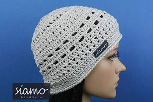 Sommer-Mütze VERONA kitt Sommer-Beanie von siamo-handmade Baumwolle-Mix