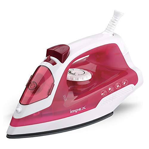 Impex IBS-401 1250 Watts Steam Iron Box (White & Red)