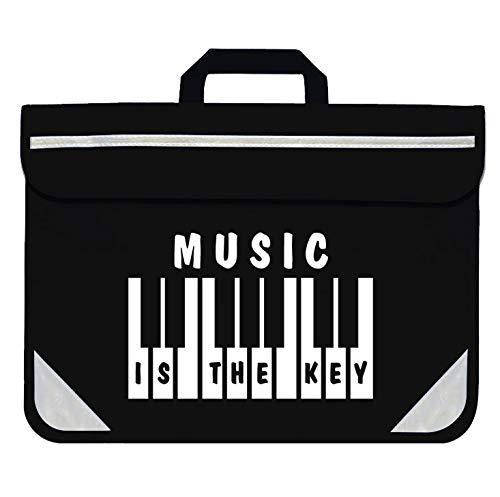 Mapac: Piano/Keyboard Music Bag - Music Is The Key (Black)