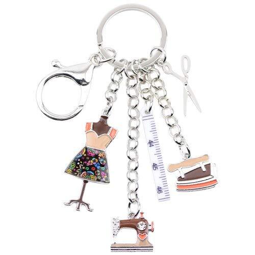 YASIKU sleutelhanger legering voor machines naaigereedschap van legering schaar kettingen sleutelhanger geschenk voor dames tas sleutelhanger met hanger