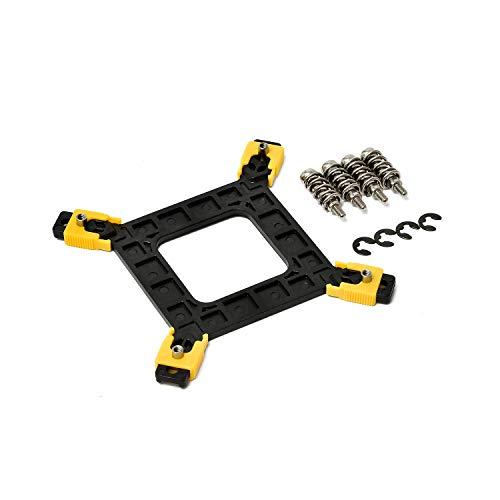 intel cpuクーラー ネジ固定 変更キット 13点セット (LGA1155 LGA775 対応) 【 ピンを押し回して固定するタイプを、ネジで固定する方法に変更するキット! 】 cpuファン ヒートシンク バックプレート (LGA1151 マザーボード でも使用可/サイズが合えば互換性あり) CPUクーラー用 固定用品 【YANPARK】 (1個)