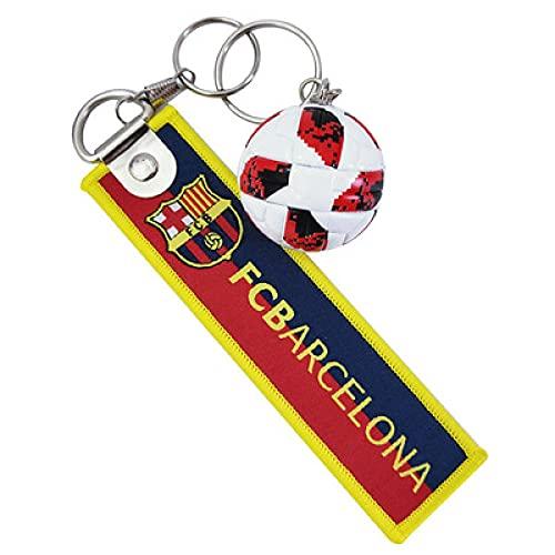 Llavero con logotipo del equipo de tela de Barcelona para teléfono móvil, colgante de coche creativo