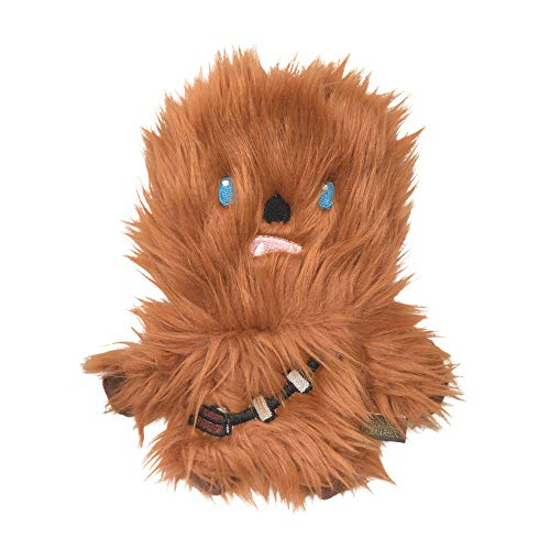 Star Wars for Pets Plush Chewbacca Flattie Dog Toy   Soft Toys for Dogs, Brown, Large - 9