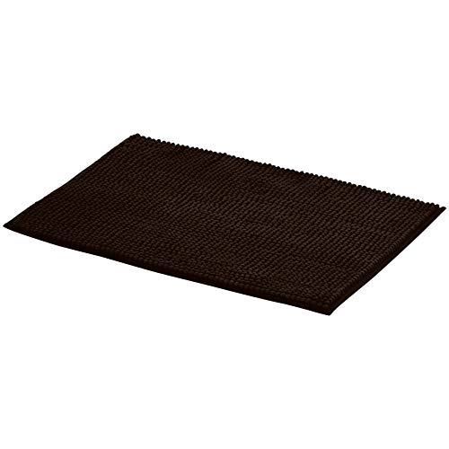 AmazonBasics Chenille Bath Mat - Large, Brown