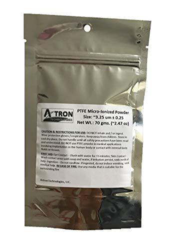 AztroGrit PTFE Powder (Teflon Powder),MICRO-IONIZED; (3.25 microns ± 0.25)~2.47 oz (70 gm)