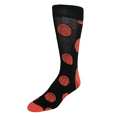 Calcetines de vestir con patrón de baloncesto para hombre de parquet