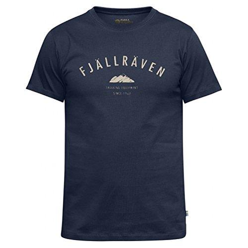 FJÄLLRÄVEN T-Shirt M avec Logo pour Homme L Bleu Marine