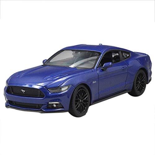 LIUCHANG 1:24 Modelo de Coche Ford Mustang 2015 Decoración Decoración Modelo de Modelo de Coche Deportivo estática del Coche colección Modelo (Color: Azul) liuchang20