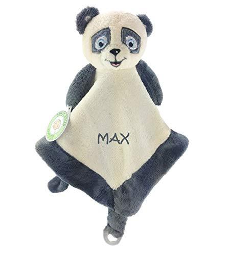 Babysutten SCHMUSETUCH MIT Namen, My Panda, 1 Zeile Bestickung