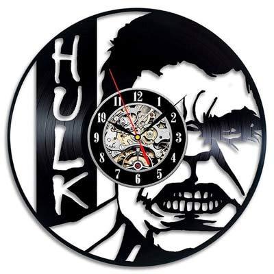 FDGFDG Unión Disco de Vinilo Reloj de Pared diseño Moderno Juego de historietas película Personaje Mesa Reloj de Pared decoración del hogar Regalo de niño