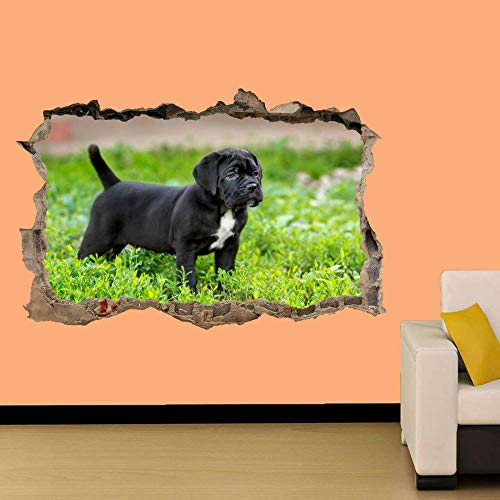 AUUUA Wall Sticker Green Wall Sticker Black Pug Decal Mural on Room Decoration