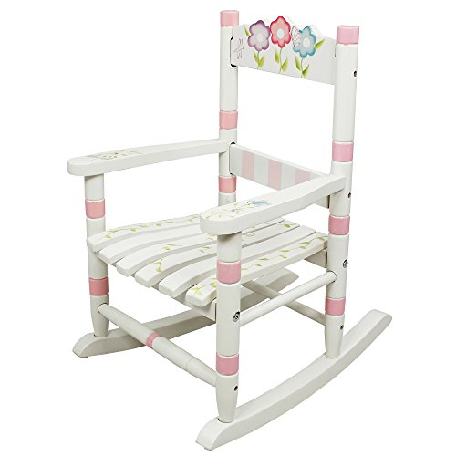 Fantasy Fields - Bouquet Thematic Child Wooden Small Rocking Chair   Imagination Inspiring Hand Crafted & Hand Painted Details Non-Toxic, Lead Free Water-based Paint