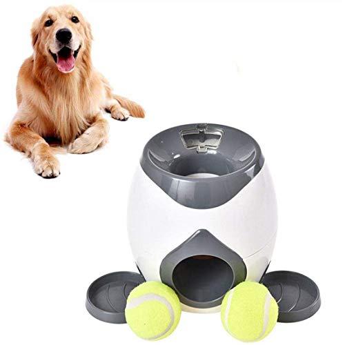 Kaura Ballwurfmaschine Hunde, Ultimate Wurfspielzeug Interaktives Automatisches Ballwerfer, Tennisball Wurfmaschine für Hundetraining, 3 Bälle im Lieferumfang Enthalten,Weiß