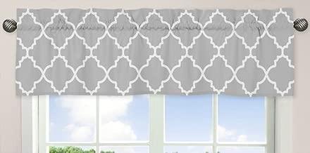 Sweet Jojo Designs Gray and White Trellis Collection Window Valance