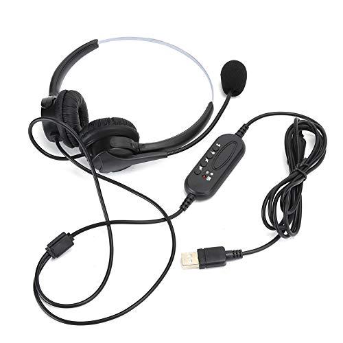 AMONIDA Trådbundna hörlurar hörlurar lågt ljud callcenter telefonkommunikation kundtjänst headset, callcenter headset, för bärbar dator kundservice