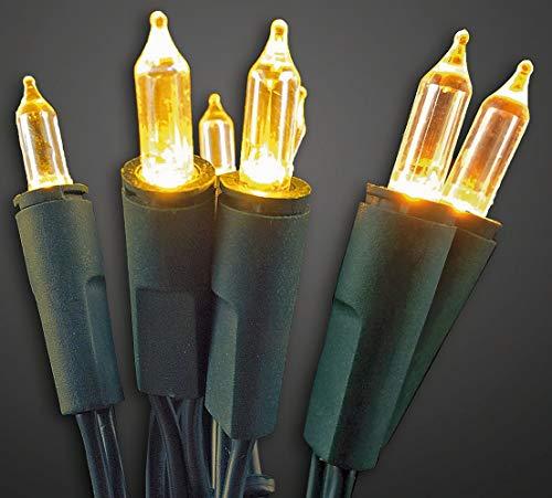 HELLUM 560916 100-teilige LED Mini-Lichterkette für innen, 220 - 240 V Netzspannung, 2x1,5m Zuleitung, Kabel grün, Fassungsabstand: 15 cm, 17,85 m Gesamtlänge