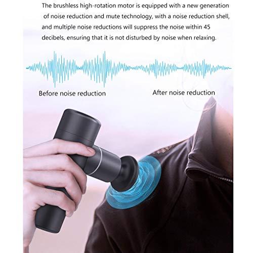 LIUSHI Mini Fascia Gun Portable Massage Gun Gun Deep Tissue Massage Gun Percussion Muscle Massager for Athletes, Multifunctional Muscle Relaxation Meridian Therapy (Color : Gray)