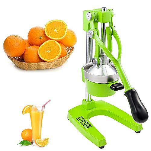 ROVSUN Commercial Grade Citrus Juicer Hand Press Manual Fruit Juicer Juice Squeezer Citrus Orange Lemon Pomegranate (Green)
