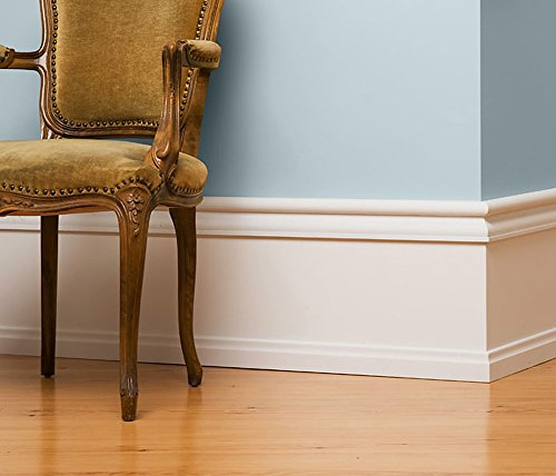 Hohe Fußleiste/Sockelleiste von Golddecor | Sockelleiste Julia aus Massivholz | elegant & luxuriös | Lieferumfang: 10,40m Gesamtlänge | geeignet für Kabelkanäle | Made in Germany (36 cm Höhe)