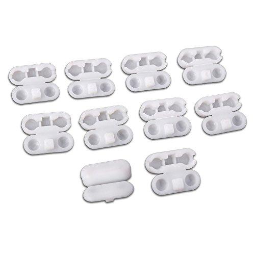 Kettenverbinder aus Kunststoff für Rollo-Ketten 4er Set weiß