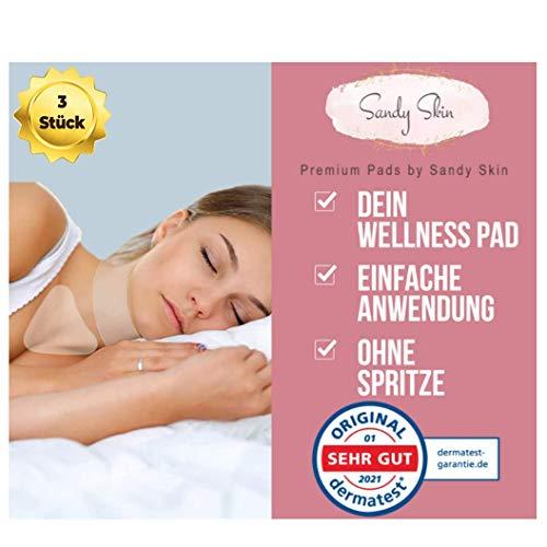 ORIGINAL SandySkin® | Hals-Pad & Brust-Pad zur Faltenreduktion | Set bestehend aus 2 Hals Pads & 1 Gratis Brust Pad | Halspads für strafferen Hals