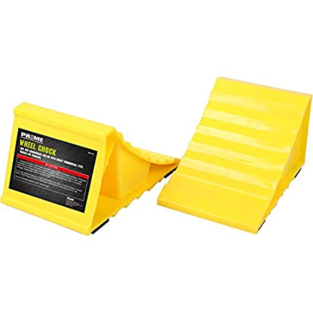 Pr1me Wheel Chocks, Non Slip Base, Suitable for Most Tyre Sizes, Ideal chocks for RV, Trailer,Without Rope, Helps Keep Your Trailer RV in Place (Pack of 2)