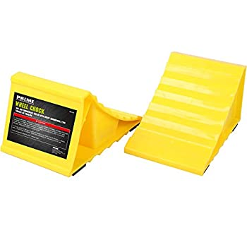 Prime 1 Wheel Chocks Non Slip Base Suitable for Most Tyre Sizes Ideal chocks for RV Trailer,Without Rope Helps Keep Your Trailer RV in Place  Pack of 2