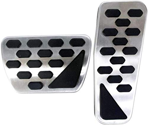 XGJ for Jeep Wrangler JL 2018 2019 Car Pedal Cover Clutch Brake Foot Pedals Automatic Stainless Steel Car Accelerator Gas Pedal Brake Pedal Pads
