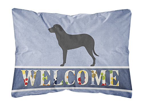 Carolines Treasures BB8346PW1216 Majorca Shepherd Dog Canvas Stoff Dekokissen, Welcome