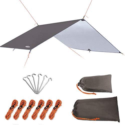 Unigear Hammock Rain Fly Waterproof Tent Tarp, UV Protection and PU 3000mm Waterproof, Lightweight...