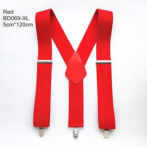 DYDONGWL Suspenders/5 X 140 cm XXL grote maat mannen Suspenders X Terug Suspender Leer Suspender Worker Braces Hold Up Broek Volwassen Accessoires