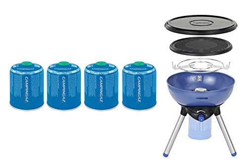 Campingaz Party Grill 200 Fornello con 4 cartucce CV 470 Plus, fornello e barbecue da campeggio portatile