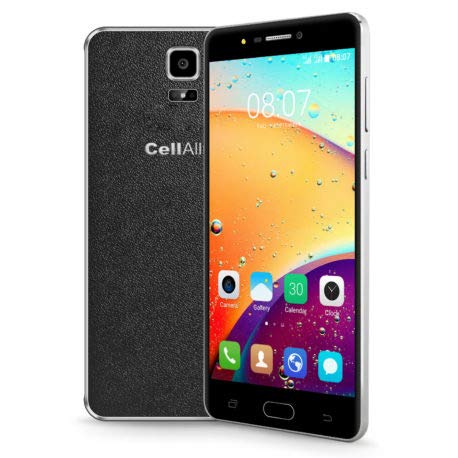 """CELLALLURE Miracle 6.0 S Dual SIM/ 4G (HPSA+)/ Factory Unlocked Android Smartphone - 6"""" - Black"""
