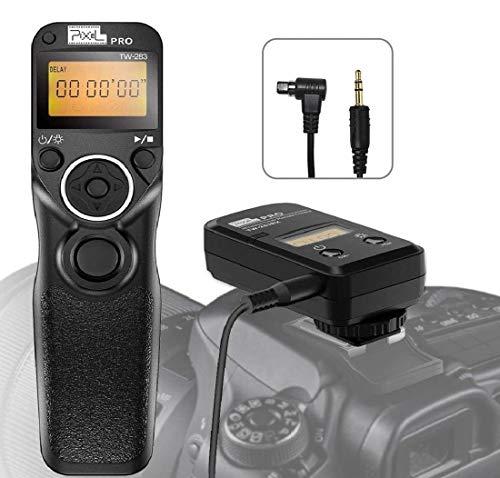 Pixel Mando a Distancia Inalámbrico Temporizador TW-283 N3 con Intervalómetro Disparador para Canon R5, 6D II, 1DX II, 1DX III, 1DS III, 1DS II, 1D C, 1D IV, 1D III, 5D, 5D III, 5D IV, 6D, 7D II, 50D