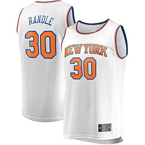 DFSFDS Nuevo Baloncesto Julius #30 para Hombres Jersey New York Knicks Randle Player Jersey repetible Limpieza Chalecos Sin Mangas - Blanco