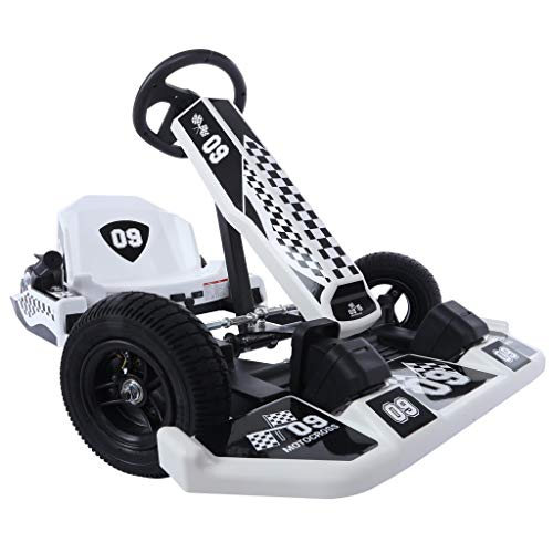 powerful Enjoy Time Electric Go-Kart Drift Portable Kids Outdoor Racing Car Toys (Kids Gifts, Black)