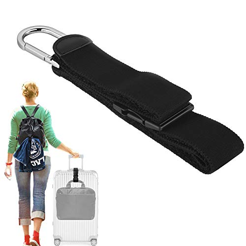 Add A Bag Luggage Strap Jacket Gripper, ZINZ D-ring Hook Baggage Suitcase Straps Belts Travel Accessories