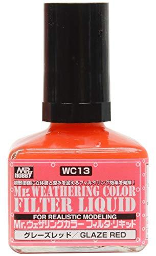 GSIクレオス Mr.ウェザリングカラ-フィルタ・リキッド グレーズレッド 40ml 模型用塗料 WC13
