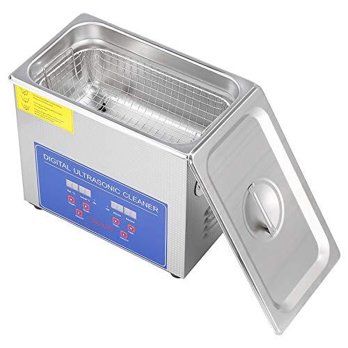 10L Edelstahl Ultraschall-Reinigungsgerät mit digitaler Anzeige für Schmuck, Rasierbürste, Zahnbürste