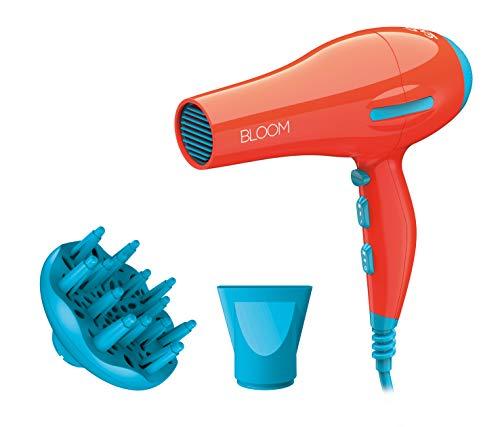 Gama Italy Professional Phon Bloom Flow Ion, secador con 2200 W de potencia y motor AC de larga duración, naranja