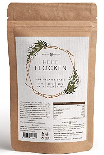 Copos de levadura de Nordic Pure – 350 g | Vegano, sin gluten ni soja | Sabor de queso de melaza de levadura | Copos de levadura nutritiva