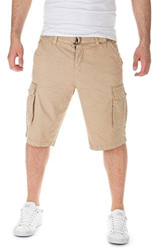 Eight2Nine Shorts + Gürtel - Cargo Bermuda Sommer Hose, 20300 Middle beige, W29