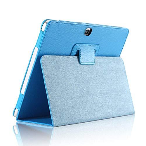 Hoesje voor Samsung Galaxy Tab 4 10.1inch SM-T530 T535 T533 Tab4 10 T530 T531 T535 Tablet Case Beugel flip PU Lederen Cover T530 T531 hemelsblauw