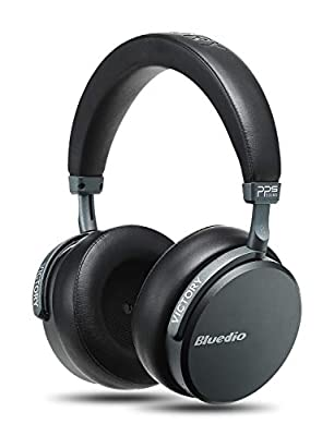 Bluedio V2 (Victory) Bluetooth Headphones Over Ear, PPS12 Drivers Wireless Headset with Mic for Cell Phone, Support Amazon Web Services (Black) from Bluedio