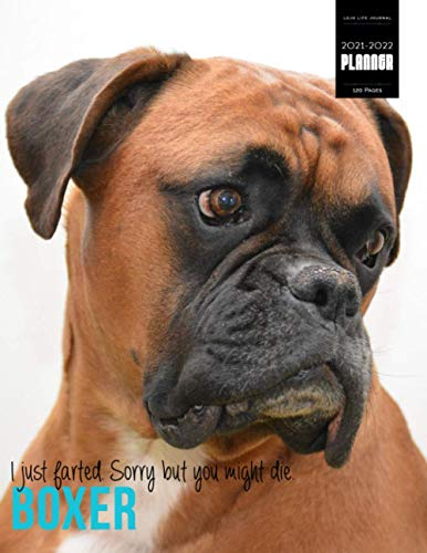 Boxer Meme Monthly Dual Planner 2021-2022, Organizer & Notebook Combined with US Holidays | 8.5x11 | 120 Pages: for Dog Mums, Canine Lovers, Boxer Lovers, Dog Mummy